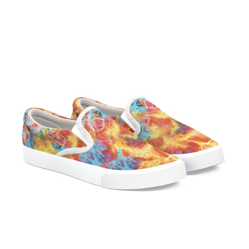 Men Women Psychedelic Shoes Slip-On Men's Slip-On Shoes by Leading Artist Shop