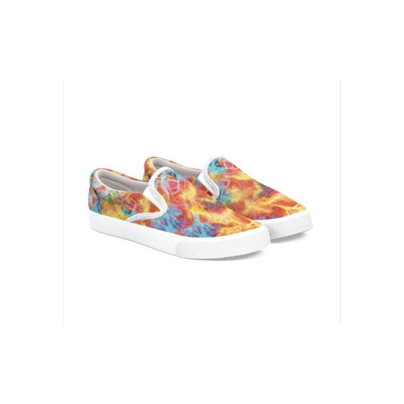 Men Women Psychedelic Shoes Slip-On by Leading Artist Shop
