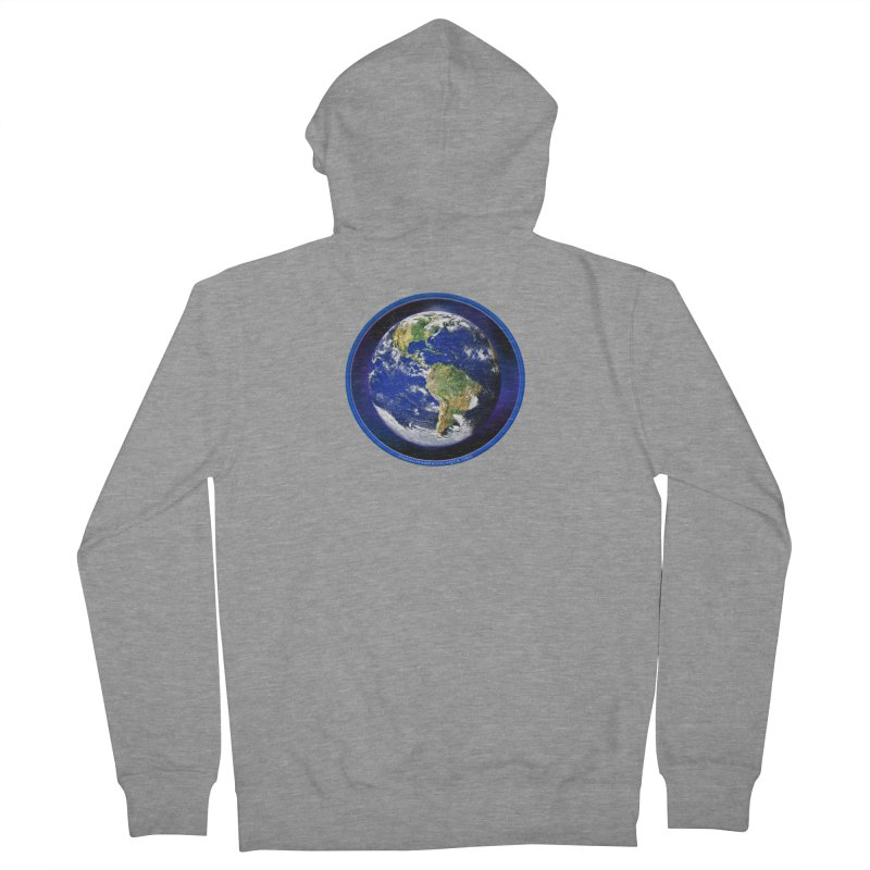 One Human Family - QCA Men's French Terry Zip-Up Hoody by Leading Artist Shop