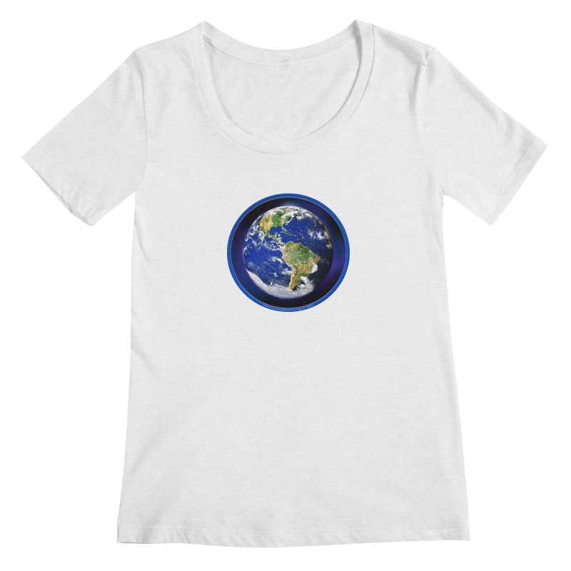 One Human Family - QCA Women's Regular Scoop Neck by Leading Artist Shop