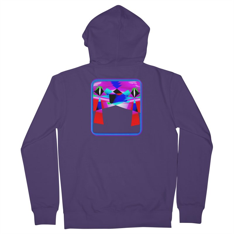 Abstract Paradise Shirts Women's French Terry Zip-Up Hoody by Leading Artist Shop