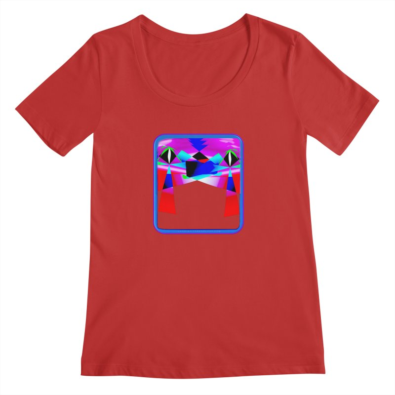 Abstract Paradise Shirts Women's Regular Scoop Neck by Leading Artist Shop