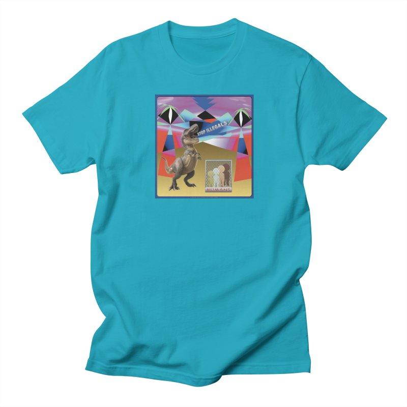 Stop Illegal Aliens Dinosaur Shirts Women's Regular Unisex T-Shirt by Leading Artist Shop