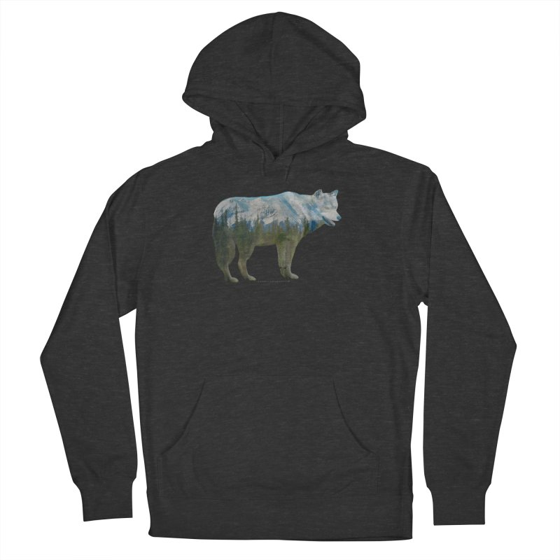 Wolf Mountain Blend Shirts n Hoodies Women's French Terry Pullover Hoody by Leading Artist Shop
