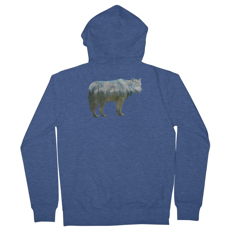 Wolf Mountain Blend Shirts n Hoodies Women's French Terry Zip-Up Hoody by Leading Artist Shop