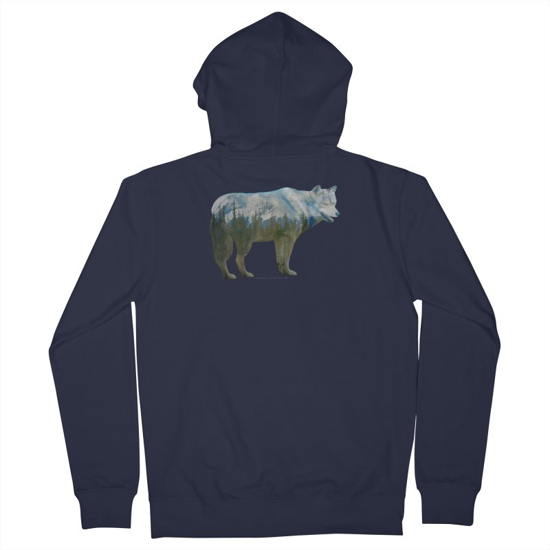 Wolf Mountain Blend Shirts n Hoodies Men's French Terry Zip-Up Hoody by Leading Artist Shop