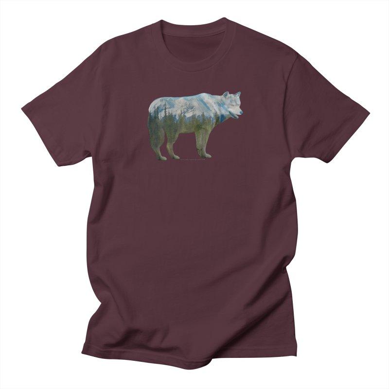 Wolf Mountain Blend Shirts n Hoodies Women's Regular Unisex T-Shirt by Leading Artist Shop