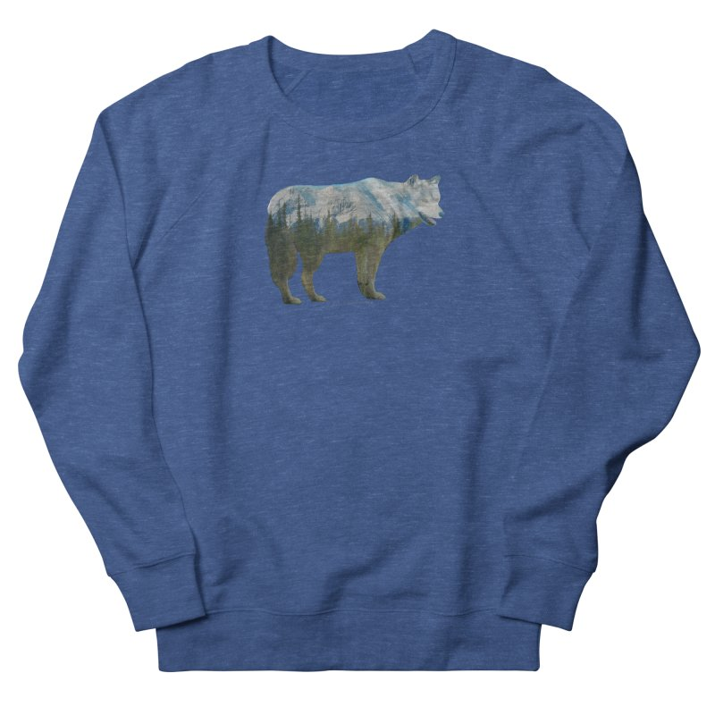 Wolf Mountain Blend Shirts n Hoodies Women's French Terry Sweatshirt by Leading Artist Shop