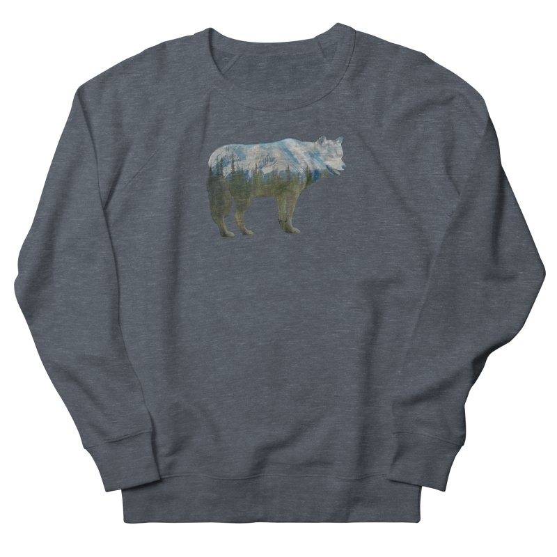 Wolf Mountain Blend Shirts n Hoodies Men's French Terry Sweatshirt by Leading Artist Shop