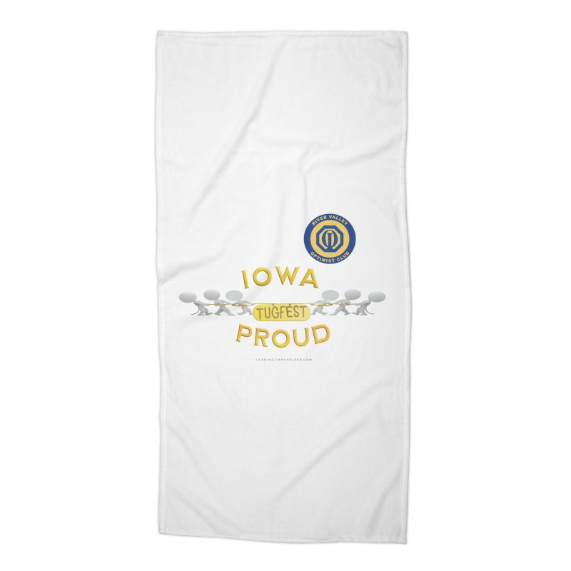 Tugfest Iowa Proud Accessories Beach Towel by Leading Artist Shop