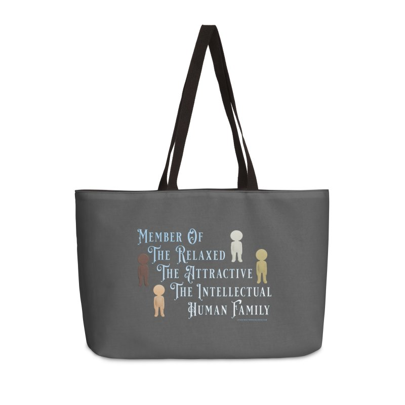 One Human Family Shirt Accessories Weekender Bag Bag by Leading Artist Shop