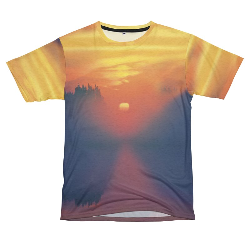 Solitude Ocean Sunset Shirt Men's French Terry T-Shirt Cut & Sew by Leading Artist Shop