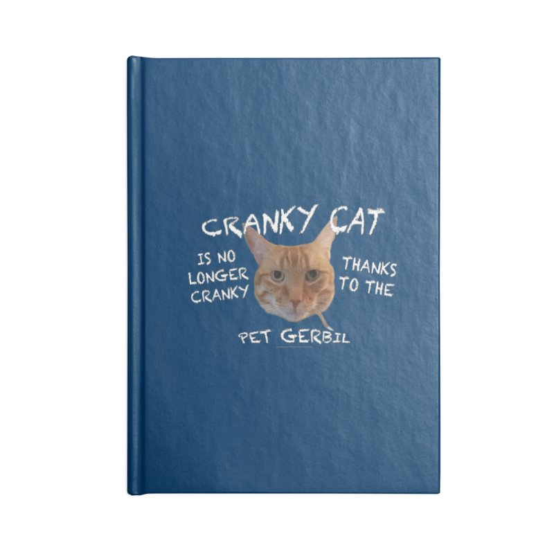 Cranky Cat Shirts n More Accessories Blank Journal Notebook by Leading Artist Shop