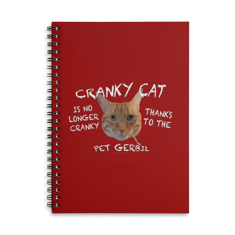 Cranky Cat Shirts n More Accessories Lined Spiral Notebook by Leading Artist Shop