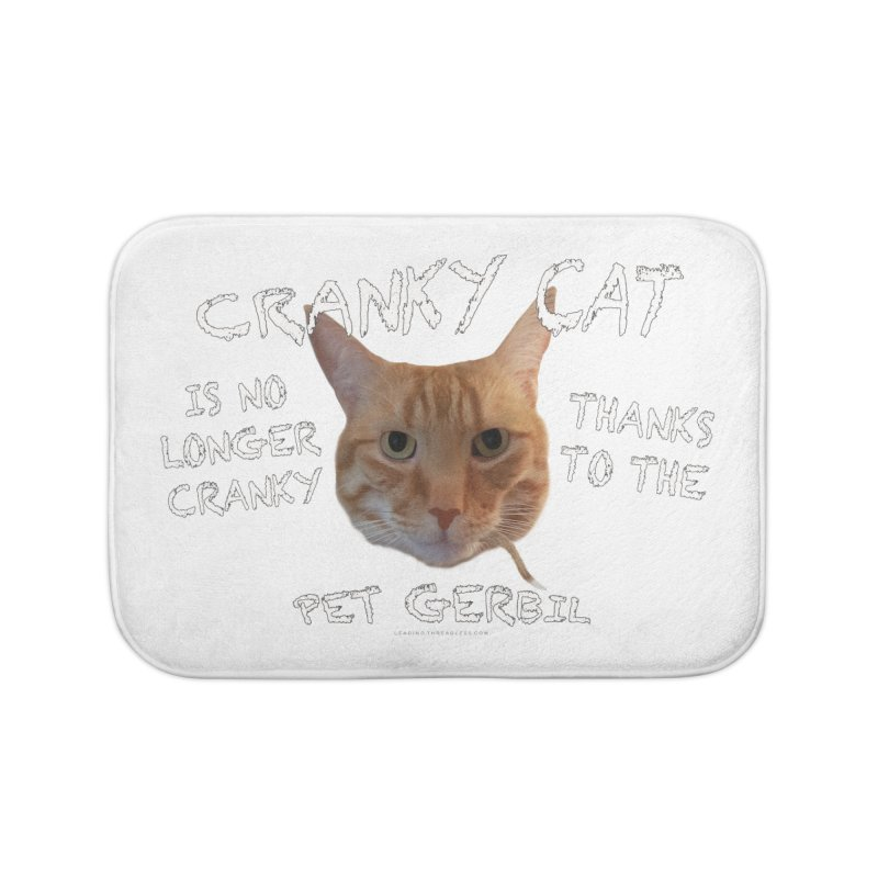 Cranky Cat Shirts n More Home Bath Mat by Leading Artist Shop