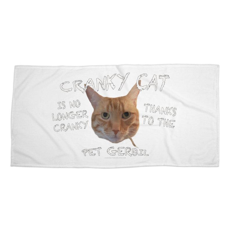 Cranky Cat Shirts n More Accessories Beach Towel by Leading Artist Shop