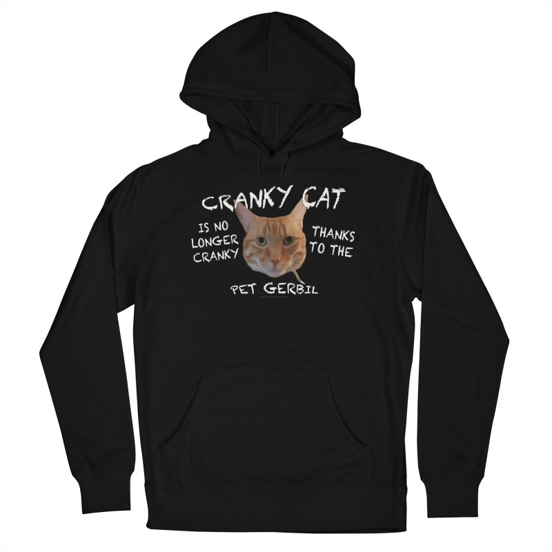Cranky Cat Shirts n More Women's French Terry Pullover Hoody by Leading Artist Shop