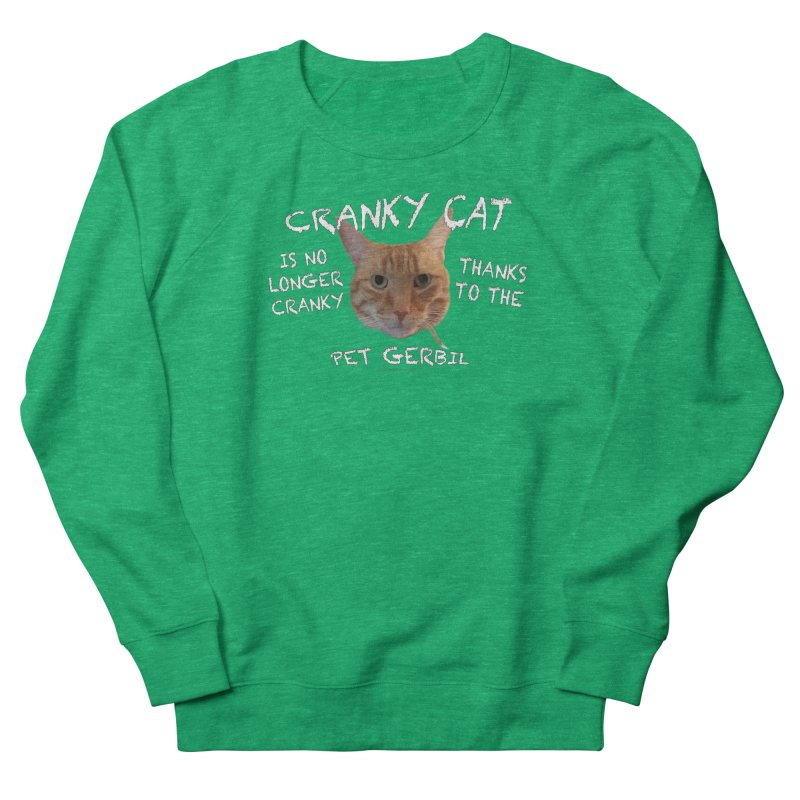 Cranky Cat Shirts n More Men's French Terry Sweatshirt by Leading Artist Shop