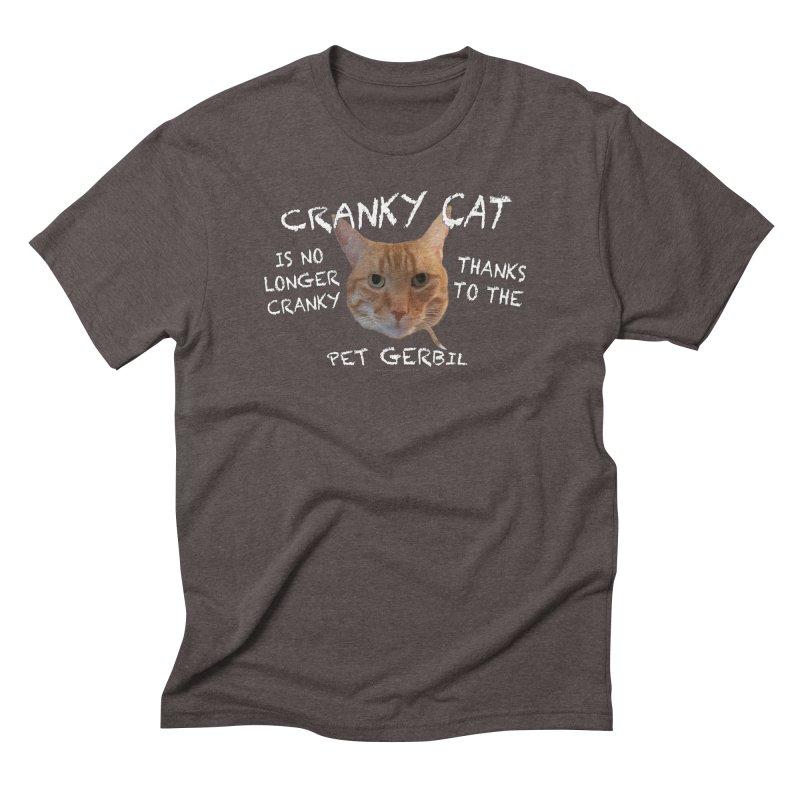 Cranky Cat Shirts n More Men's Triblend T-Shirt by Leading Artist Shop