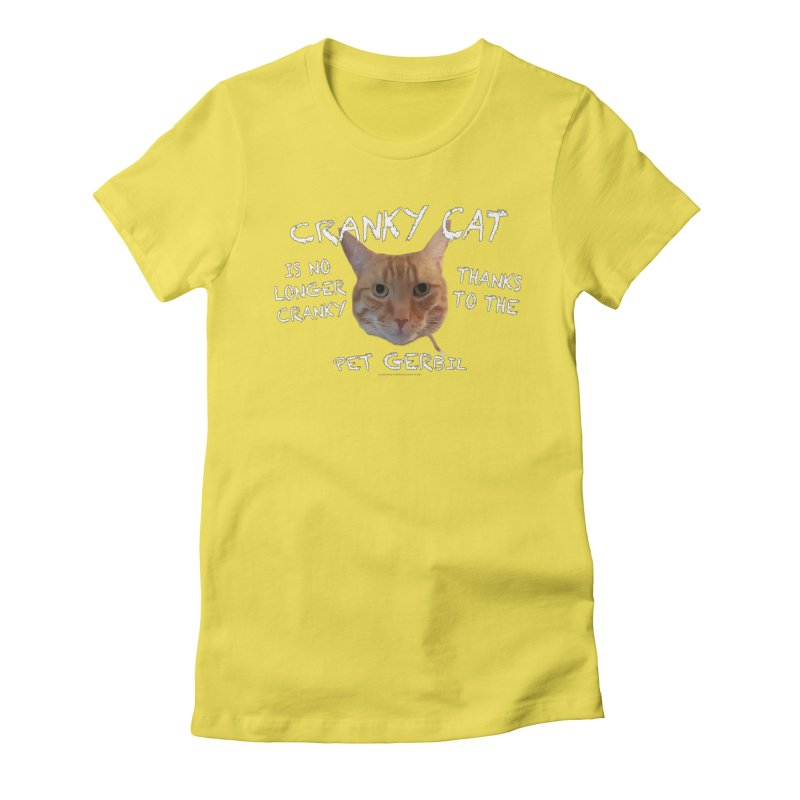 Cranky Cat Shirts n More Women's Fitted T-Shirt by Leading Artist Shop