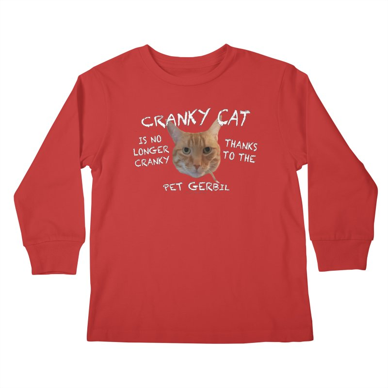 Cranky Cat Shirts n More Kids Longsleeve T-Shirt by Leading Artist Shop