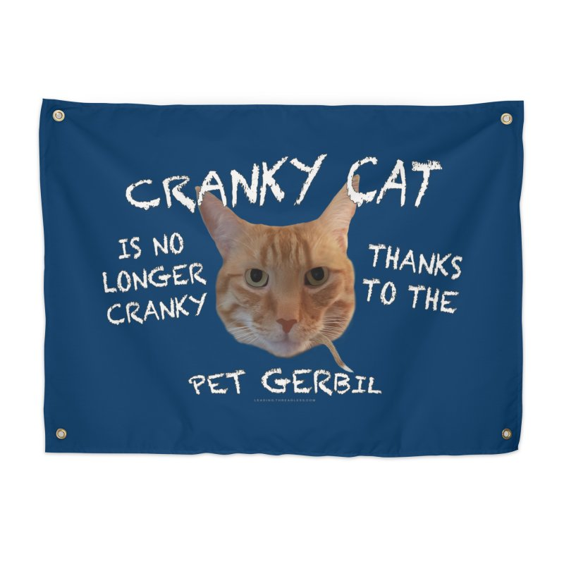 Cranky Cat Shirts n More Home Tapestry by Leading Artist Shop