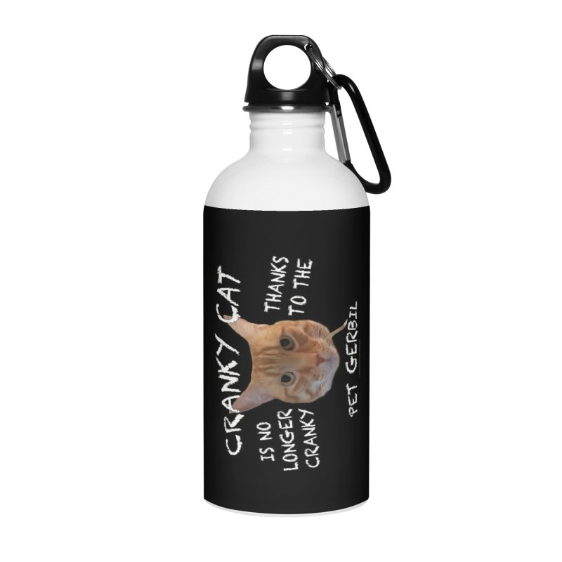 Cranky Cat Shirts n More Accessories Water Bottle by Leading Artist Shop