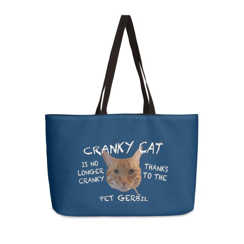 Cranky Cat Shirts n More Accessories Weekender Bag Bag by Leading Artist Shop