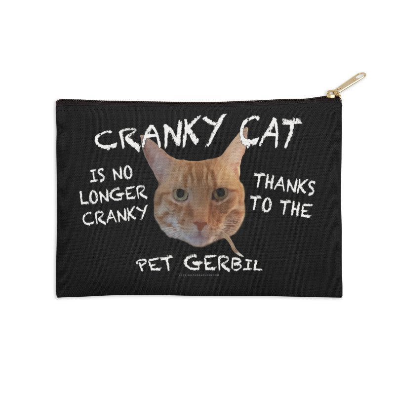 Cranky Cat Shirts n More Accessories Zip Pouch by Leading Artist Shop