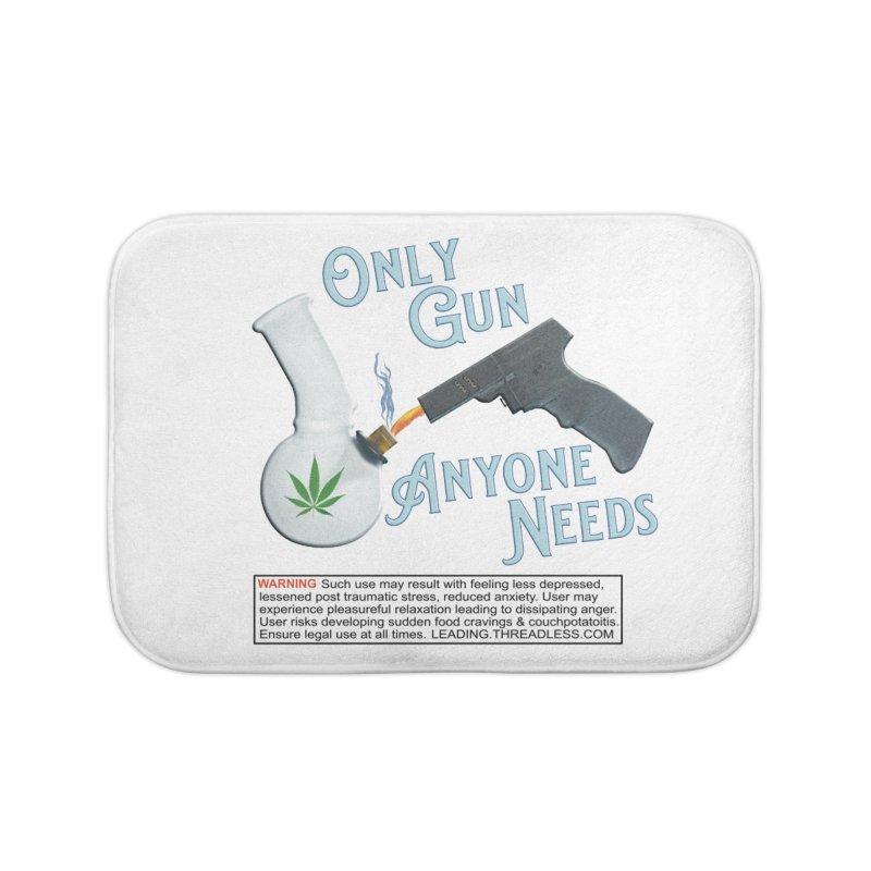 Weed Gun Shirts - All I Need Home Bath Mat by Leading Artist Shop