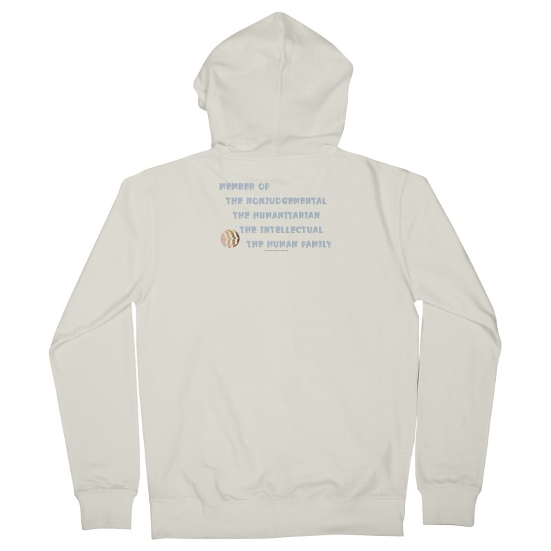 Member Of Human Family Shirts n More Men's French Terry Zip-Up Hoody by Leading Artist Shop