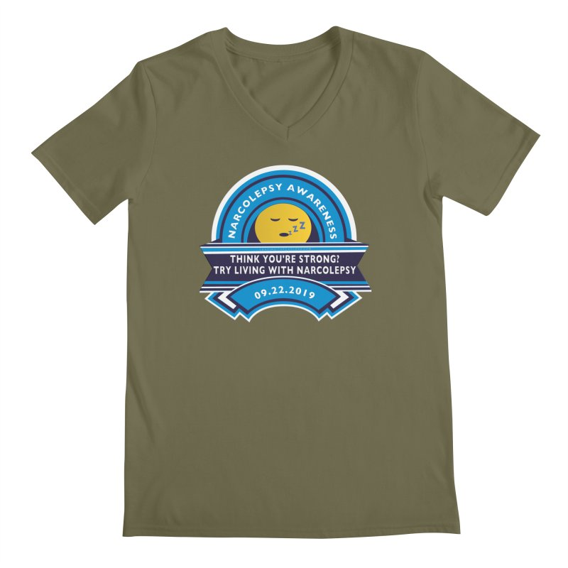 Narcolepsy Awareness Day Shirts n More Men's Regular V-Neck by Leading Artist Shop