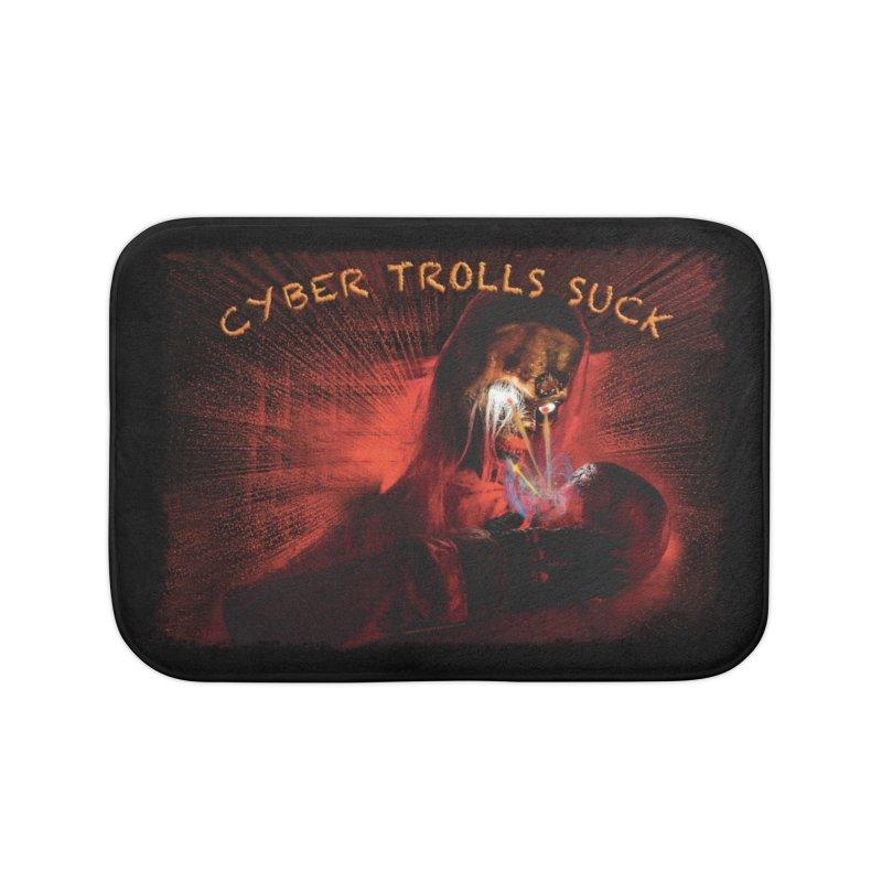 Cyber Trolls Suck - Shirts n Products Home Bath Mat by Leading Artist Shop