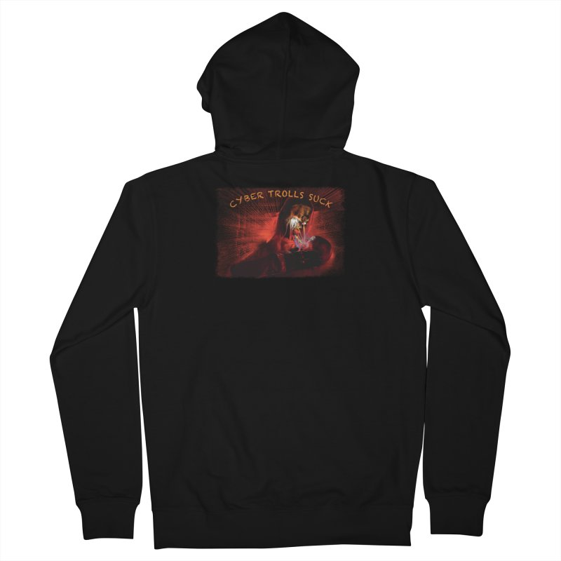 Cyber Trolls Suck - Shirts n Products Men's French Terry Zip-Up Hoody by Leading Artist Shop