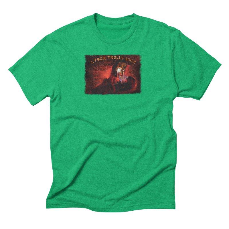 Cyber Trolls Suck - Shirts n Products Men's Triblend T-Shirt by Leading Artist Shop