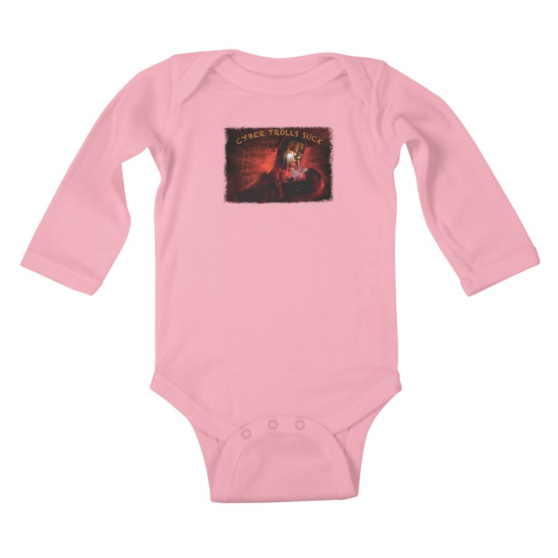 Cyber Trolls Suck - Shirts n Products Kids Baby Longsleeve Bodysuit by Leading Artist Shop