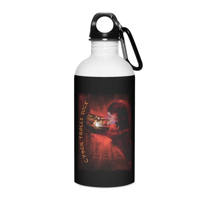 Cyber Trolls Suck - Shirts n Products Accessories Water Bottle by Leading Artist Shop