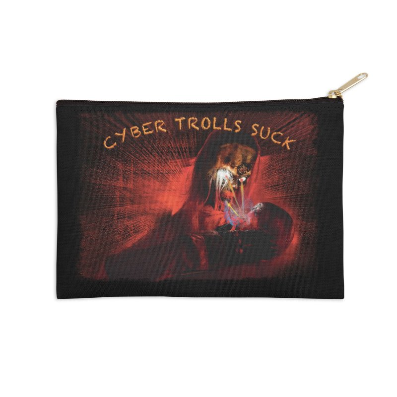 Cyber Trolls Suck - Shirts n Products Accessories Zip Pouch by Leading Artist Shop