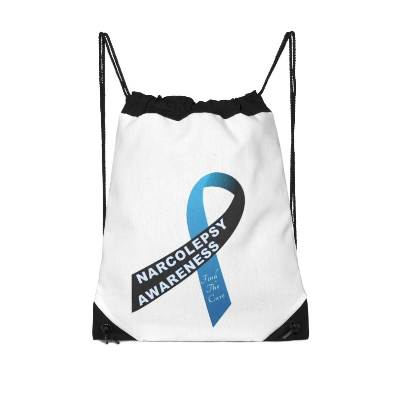 Narcolepsy Find The Cure Shirts Accessories Drawstring Bag Bag by Leading Artist Shop