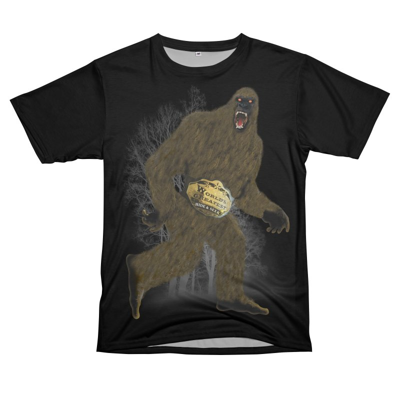 Big Foot Hide Seek Shirt Women's Unisex T-Shirt Cut & Sew by Leading Artist Shop