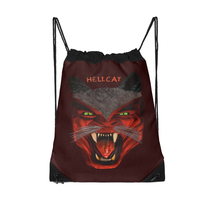 HellCat Shirts n More Accessories Drawstring Bag Bag by Leading Artist Shop