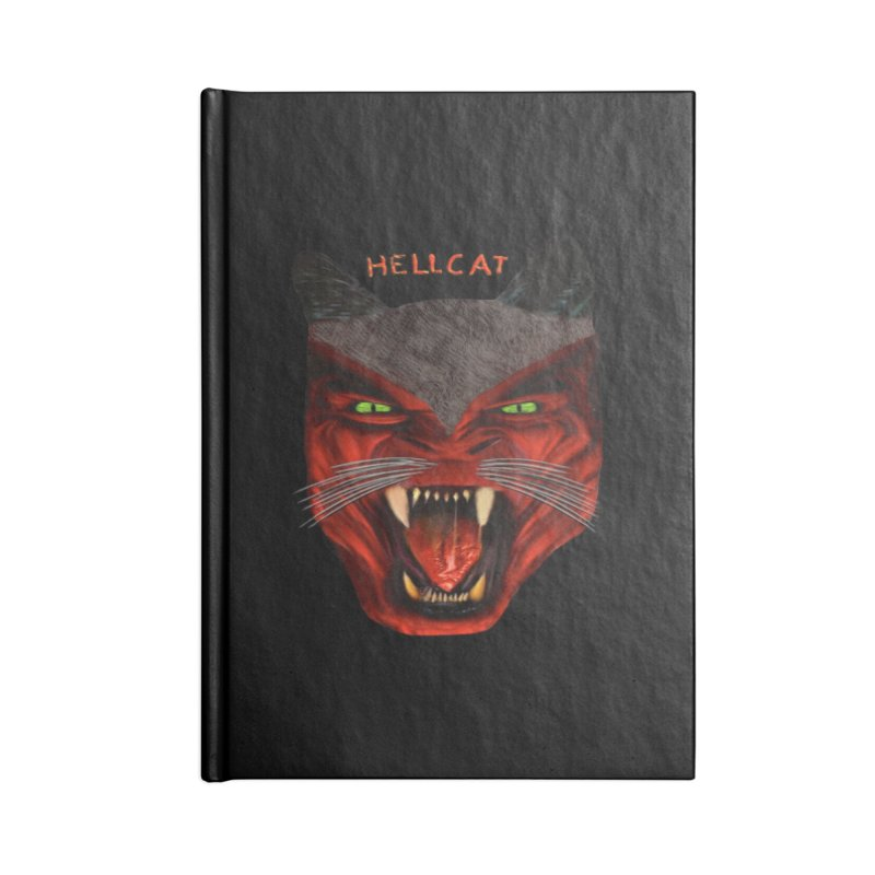 HellCat Shirts n More Accessories Lined Journal Notebook by Leading Artist Shop
