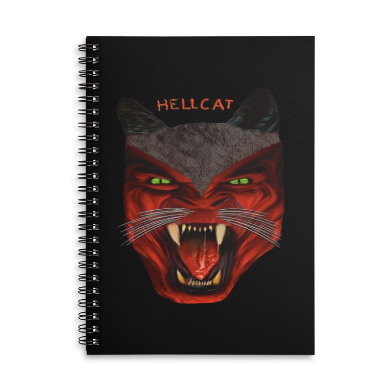 HellCat Shirts n More Accessories Lined Spiral Notebook by Leading Artist Shop