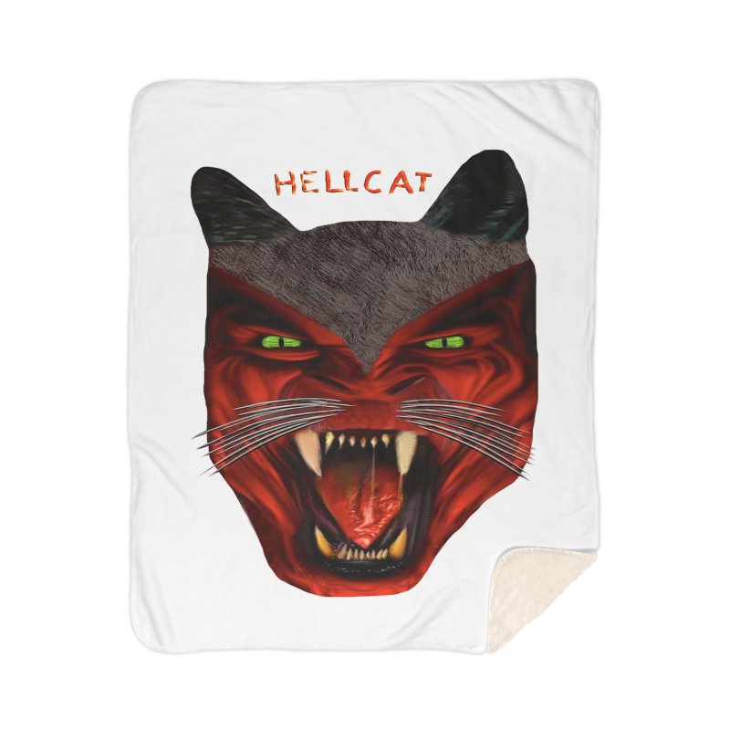 HellCat Shirts n More Home Sherpa Blanket Blanket by Leading Artist Shop