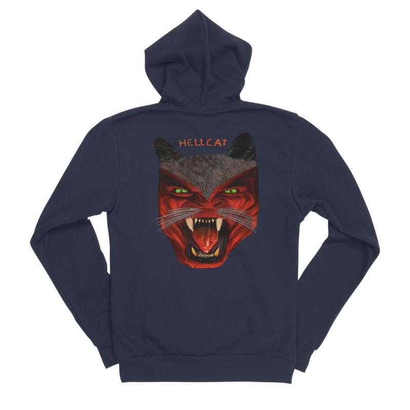 HellCat Shirts n More Men's Sponge Fleece Zip-Up Hoody by Leading Artist Shop