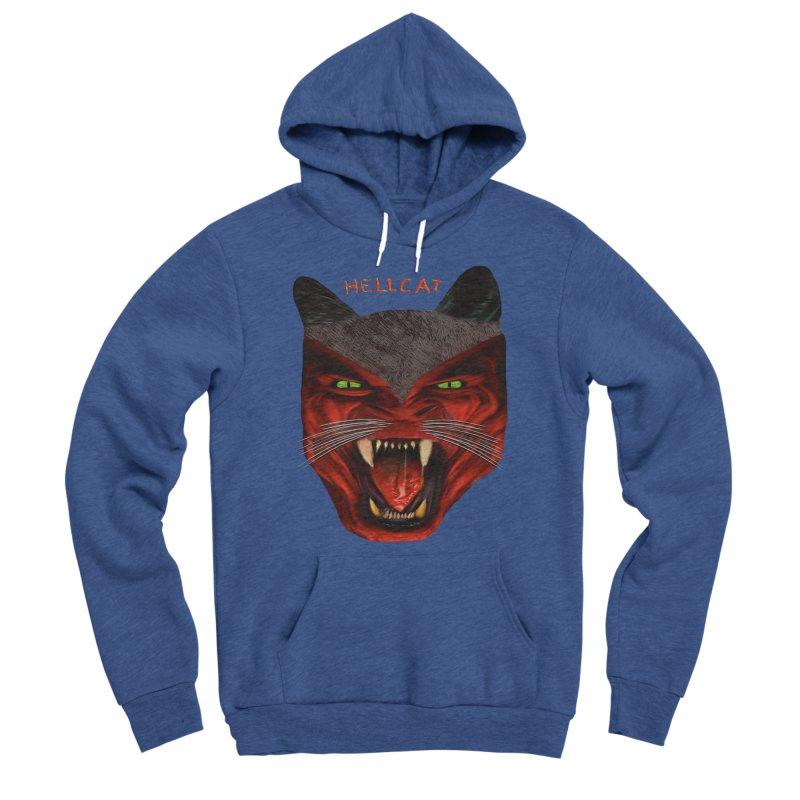 HellCat Shirts n More Men's Sponge Fleece Pullover Hoody by Leading Artist Shop