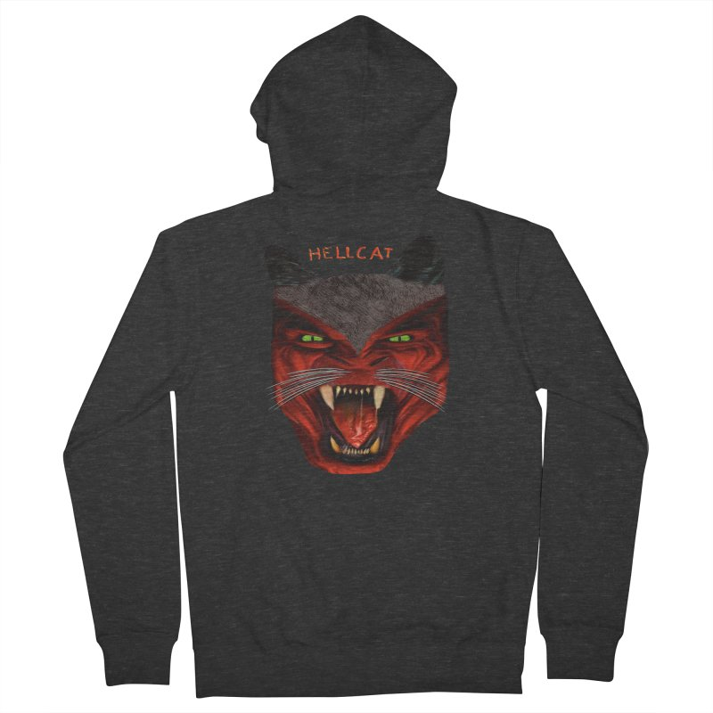 HellCat Shirts n More Men's French Terry Zip-Up Hoody by Leading Artist Shop