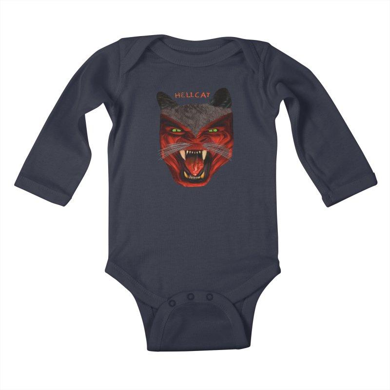 HellCat Shirts n More Kids Baby Longsleeve Bodysuit by Leading Artist Shop