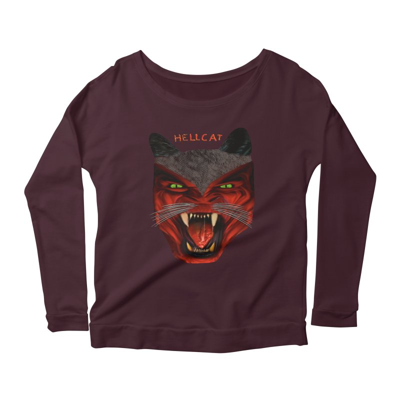 HellCat Shirts n More Women's Scoop Neck Longsleeve T-Shirt by Leading Artist Shop