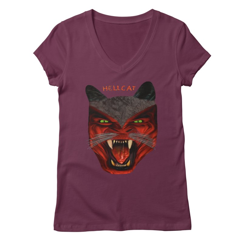 HellCat Shirts n More Women's Regular V-Neck by Leading Artist Shop